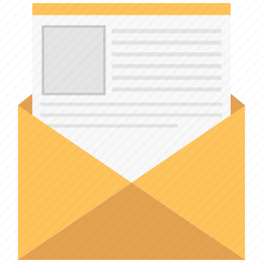 application, letter, mail, open icon