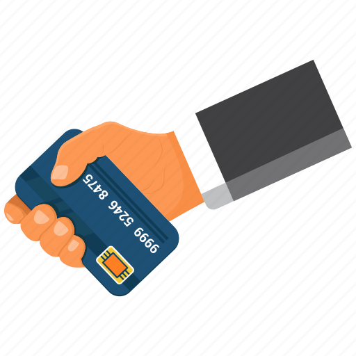 atm card, credit card, debit card, hand icon