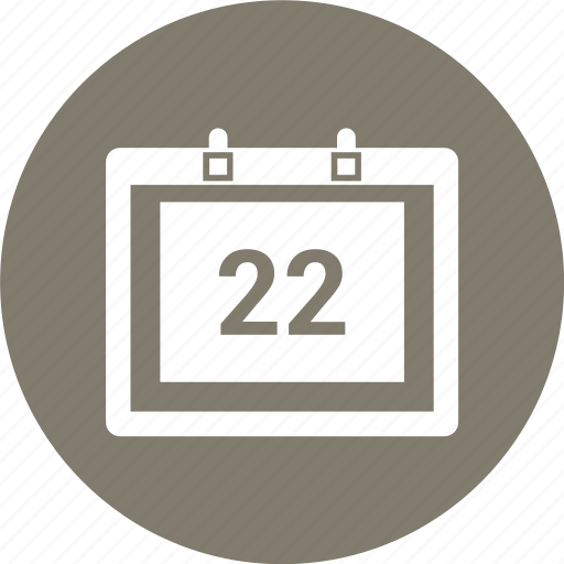 appointment, calender, schedule, timetable, twenty two icon