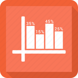 bar, growth chart icon