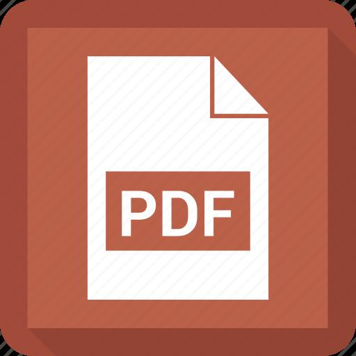 document, extension, file, pdf icon