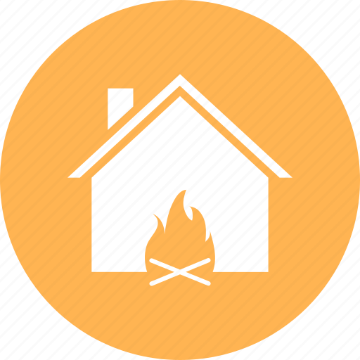 apartment, building, fire, home, house icon