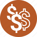 currency, dollar, sign, us