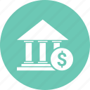 bank, building, dollar, finance icon