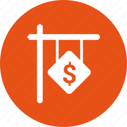 dollar, for, rent icon