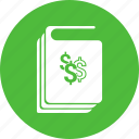 book, business, dollar, guidelines, handbook, manual icon