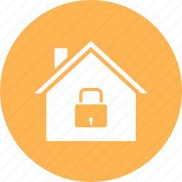 estate, home, house, lock, real icon