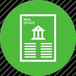 bank, banking, loan, loan agreement, loan application, loan paper icon