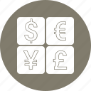 currency, dollar, euro, exchange, financial icon