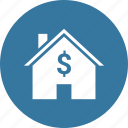 apartment, building, dollar, home, house icon