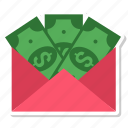 bills, cash, dollar, money icon
