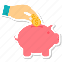 bank, hand, piggy, piggy bank, piggybank, savings icon