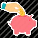 bank, hand, piggy, piggy bank, piggybank, savings