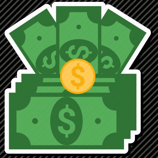 bill, coine, dollar, money icon