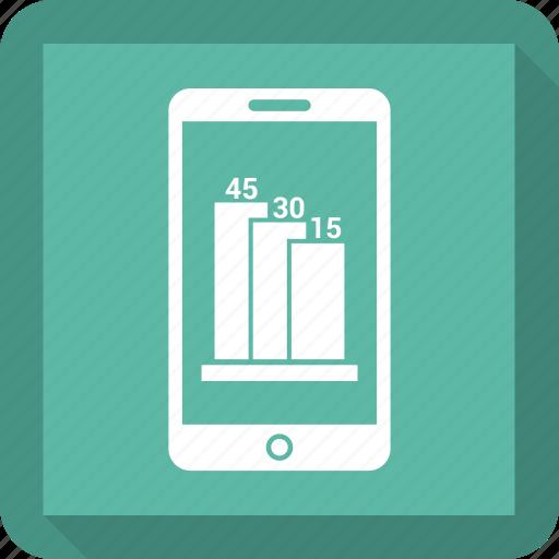 analytics, graph, infographic, mobile icon