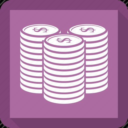 coin, coins, money icon