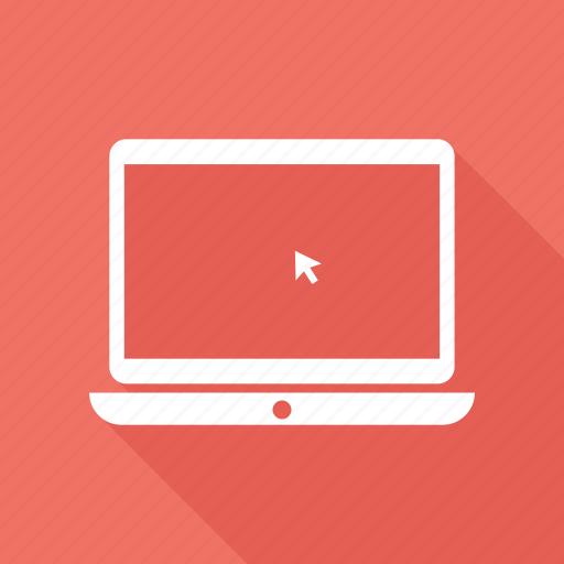 click, laptop, laptop pc, macbook, notebook icon