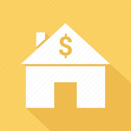 dollar, home, house, money icon