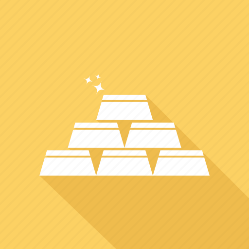 bullion, gold, ingot, investment icon