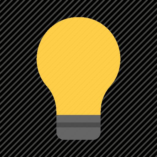 bulb, idea, light, on icon