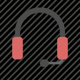 customer, headphone, marketing, service, telemarketer icon