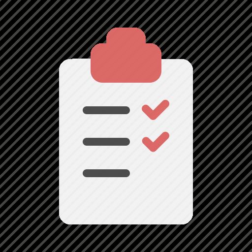 check, checklist, list, mark icon