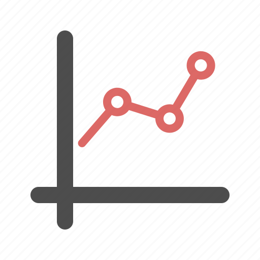chart, data, growth, presentation, up icon