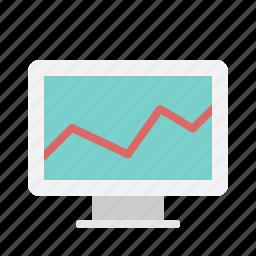 chart, data, growth, hack, monitor, presentation icon