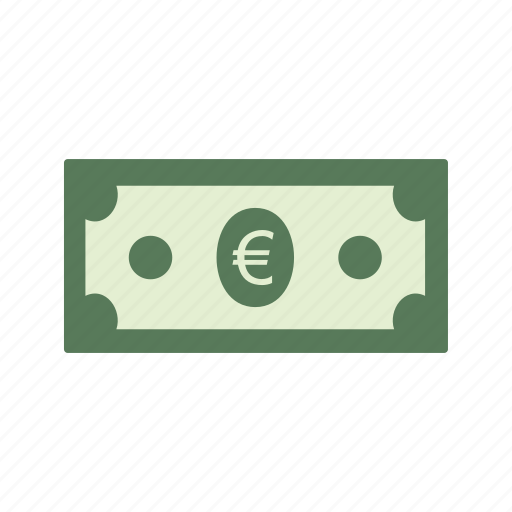 bank note, currency, euro icon