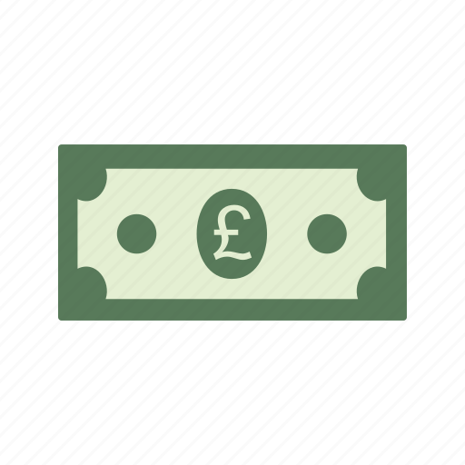 bank note, currency, money, pound icon