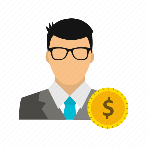 avatar, dollar, man, user icon