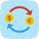 dollar, euro, money icon