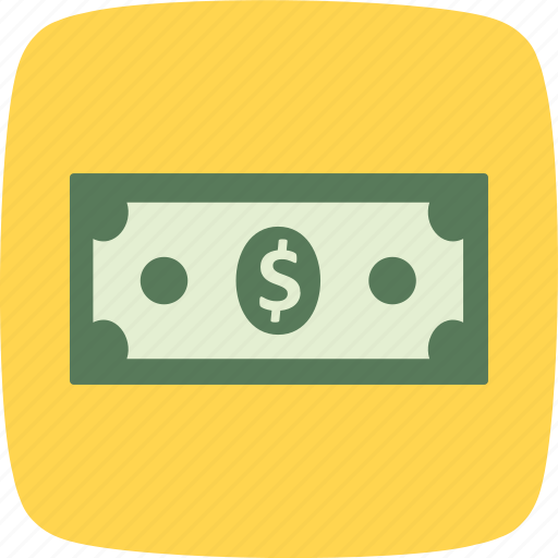 bank note, dollar, money icon