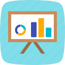 analytics, business, chart, presentation icon