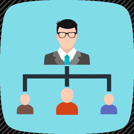 group, hierarchy, organization, team icon