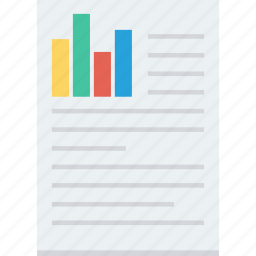 chart, doc, document, report icon icon