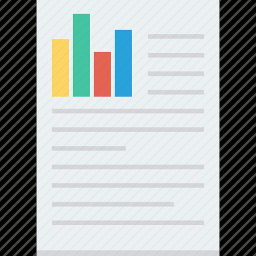 chart, doc, document, report icon icon