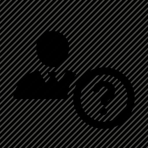 account, employer, faq, human, question icon