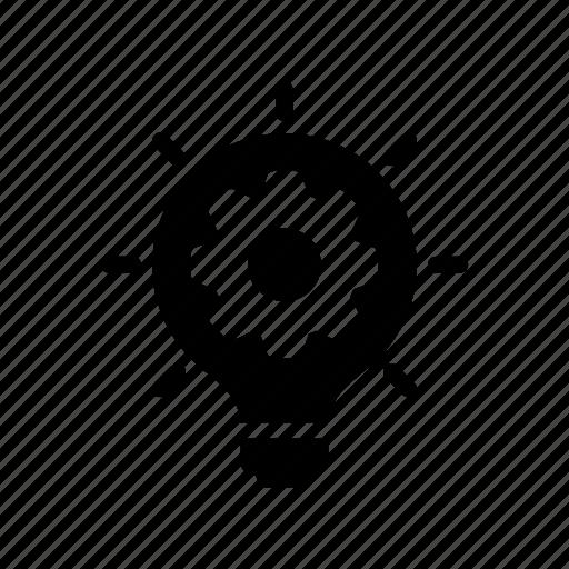 bulb, creativity, idea, option, setting icon