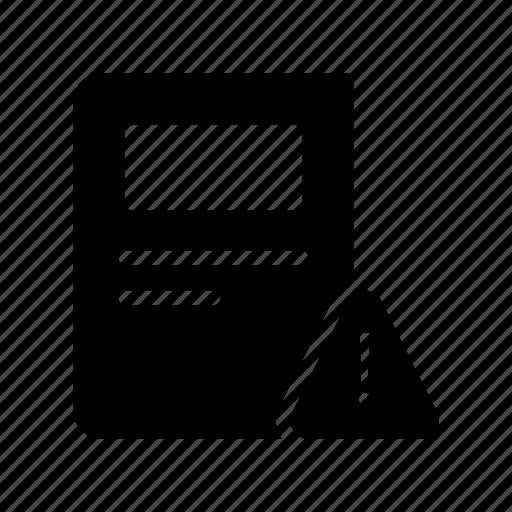 Alert, article, error, newspaper, warning icon - Download on Iconfinder