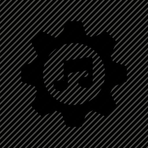 configuration, gear, music, option, setting icon