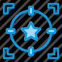 business, oppurtunity, star, target icon