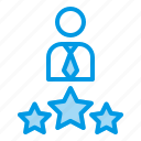 best, company, employee, rating, star icon
