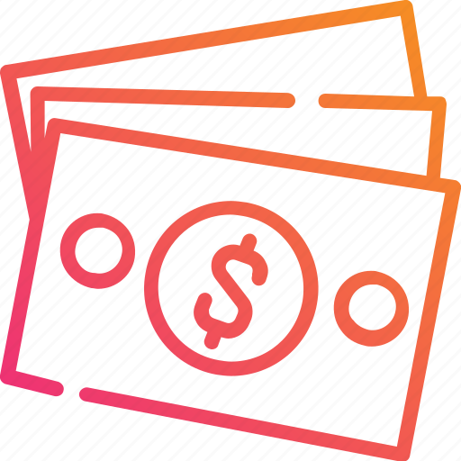 Banknote, dollar, gradient, money, usd, currency, finance icon - Download on Iconfinder