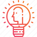 business, ceo, gradient, human, ideas, lightbulb, people icon
