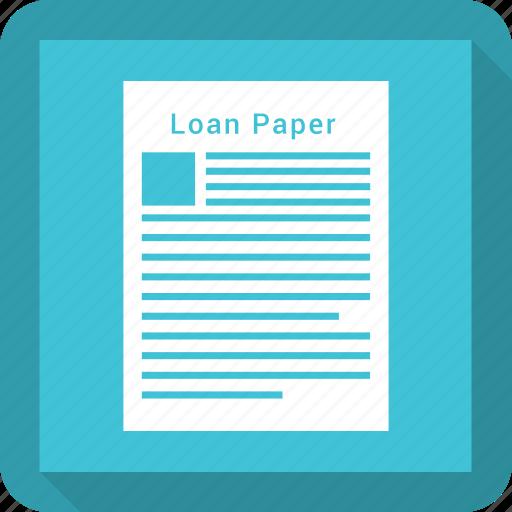 banking, loan, loan agreement, loan application, loan paper icon