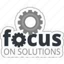 business, focus, gear, problem, solution, solve icon