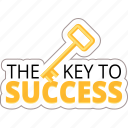 business, key, marketing, planning, strategy, success icon