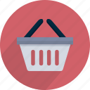 bag, basket, buy, market, red, shop icon