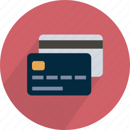 buy, card, credit, money, paying, red icon